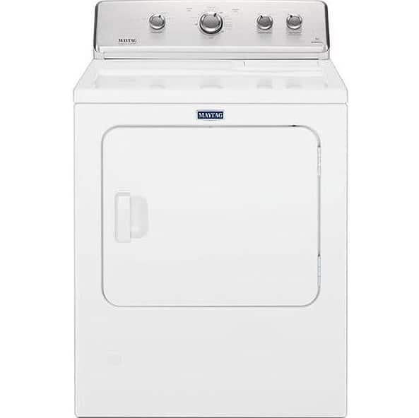 Maytag White Electric Dryer With Wrinkle Control