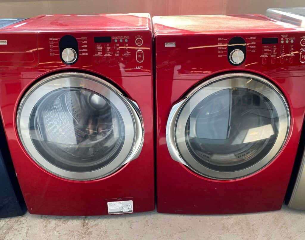 Red kenmore washer
