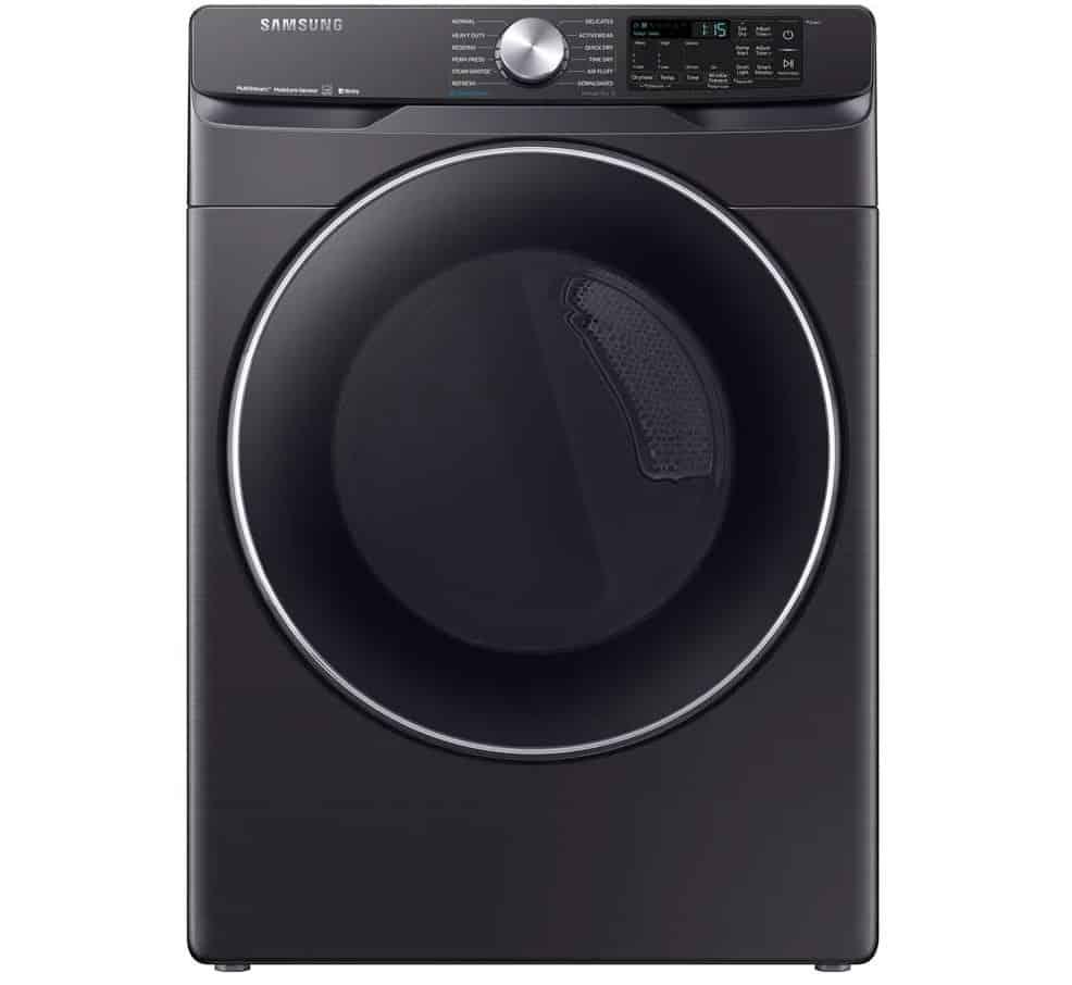 Samsung Fingerprint Resistant Black Stainless Steel Dryer